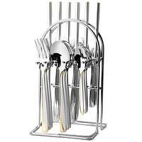 Набор столовых предметов на подставке нержавеющая сталь (24пр.) Maestro MR-1529