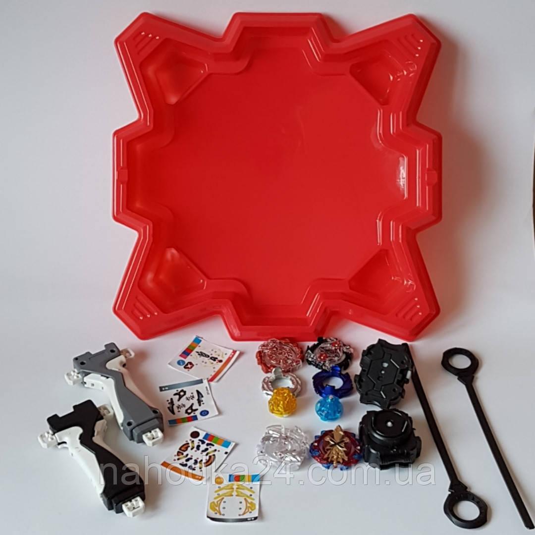 Бейблейд НАБОР в подарочной коробке 40*35*8 см. Игра BayBlade волчоки с пусковыми механизмами