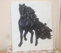 Гипсовая плитка Лошади 3D - гипсовый декор