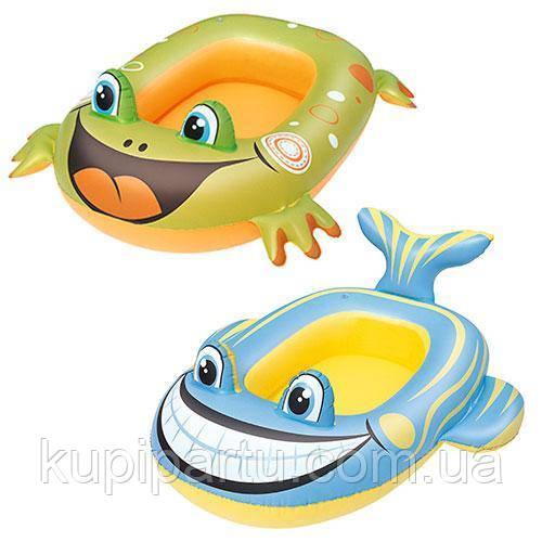 Детский надувной плотик для плавания Bestway (34085) 99-66 см (Зеленый)
