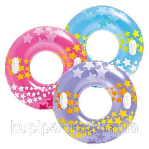 Детский плавательный круг Звезды (59256) 91 см (Фиолетовый)