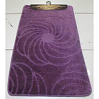 Сиреневый набор ковриков Турция 3Д однотонный в ванную комнату и туалет