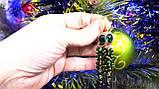 """Серьги позолоченные """"Хризопраз и зеленый фианит"""", фото 7"""