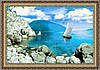 """Картина гобеленовая """"Остров надежды"""" 70х50см в багетной раме"""