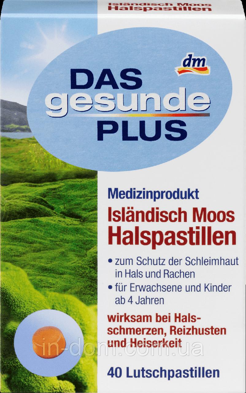 DAS gesunde PLUS Isländisch Moos Halspastillen Исландский мох пастилки от кашля 40 шт.