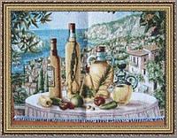 """Картина гобеленовая """"Солнечный натюрморт"""" 45х35см в багетной раме G319"""