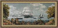 Картина гобеленовая Лагуна 100х50см в багетной раме G318