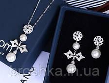 Комплект украшений крест с жемчугом ювелирная бижутерия, фото 3