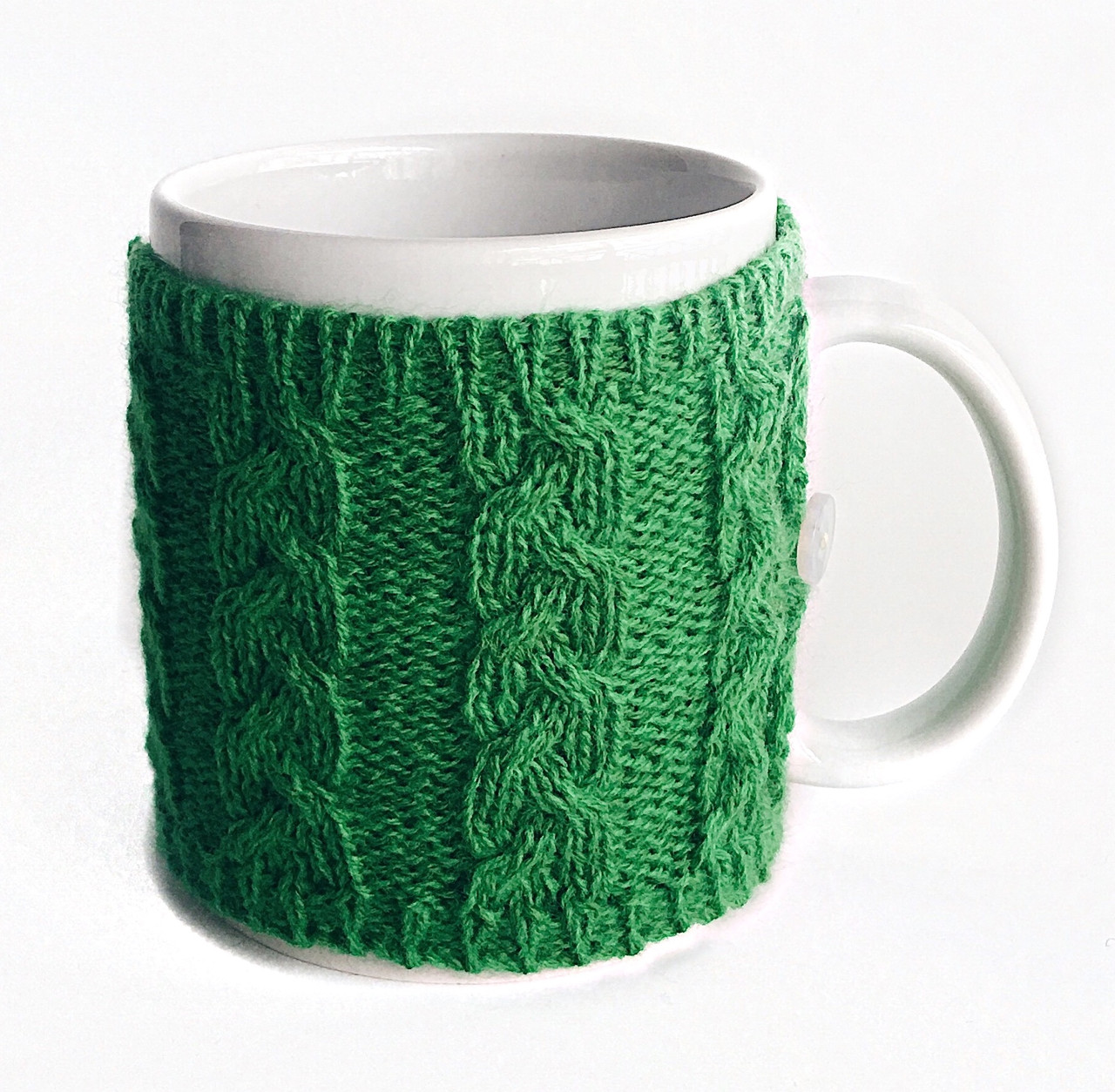Вязаный чехол для чашки Ohaina цвет зеленый