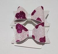 Резинки для волос бантик нежно-розовый (2 шт.)
