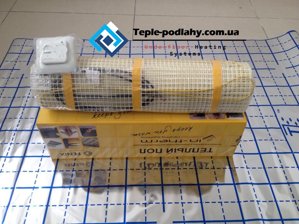 Мат электрический под плитку, 2,2 м2 (Комплект с механическим регулятором)