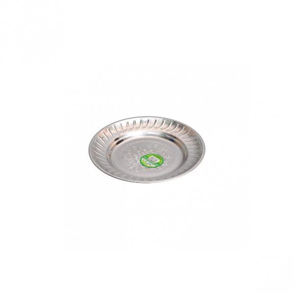 Тарелка металлическая круглая с узором D 18 см          ТП-18