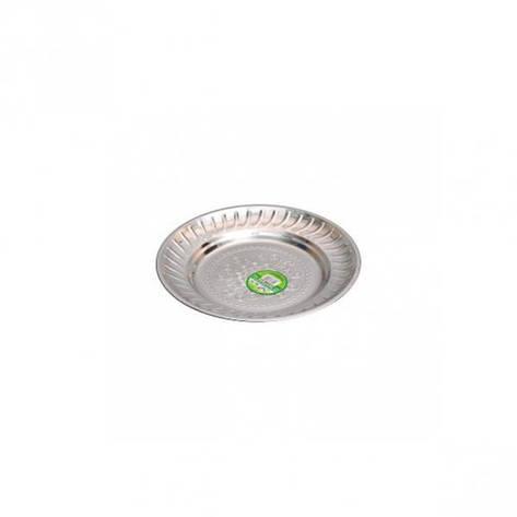 Тарелка металлическая круглая с узором D 18 см          ТП-18, фото 2