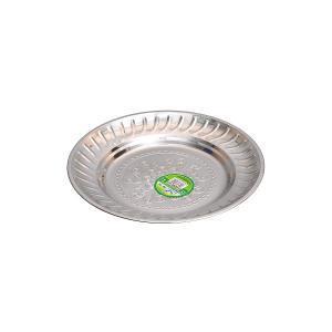 Тарелка металлическая круглая с узором D 20 см         ТП-20