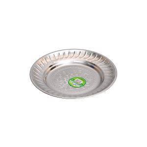 Тарелка металлическая круглая с узором D 20 см         ТП-20, фото 2