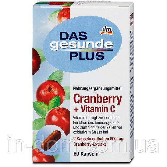 Das gesunde Plus Cranberry Kapseln mit Vitamin C Витаминный комплекс с экстрактом клюквы + витамин С 60 шт.