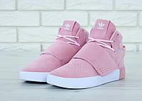 Кроссовки женские Adidas Tubular Invader Pink, адидас тубулар, реплика