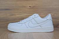 Подростковые кроссовки NIKE Air Force White LOW белые кожаные топ реплика  (живые фотографии) 116f7442b8390