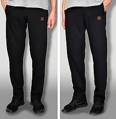 Чоловічі дуже теплі штани з начосом тканина Туреччина колір чорний з логотипом кишені на замках