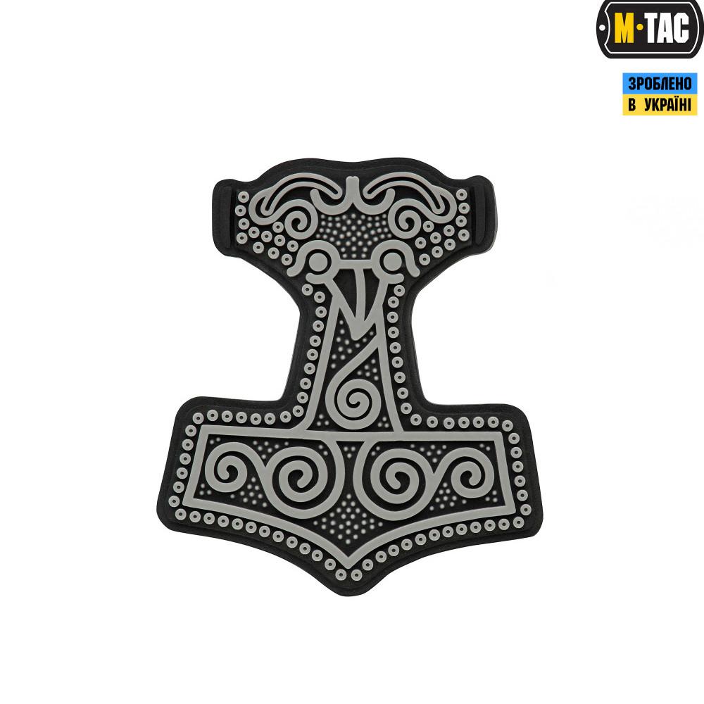 Патч M-Tac Молот Тора 3D ПВХ Black/Grey