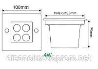 Светильник грунтовый GR-02 LED 4W /3000K 230V IP65 размер 100мм*100мм*70мм, фото 4