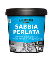 Декоративное покрытие SABBIA PERLATA ELEMENT DECOR 1 кг - Легкий переливчатый, дымчатый эффект
