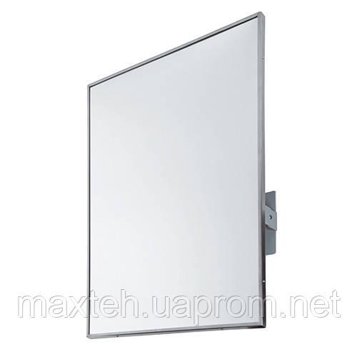 Зеркало с окантовкой из нержавеющей стали поворотное