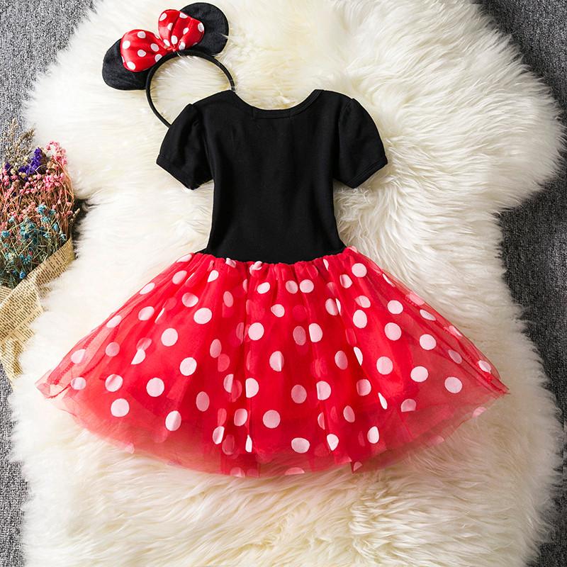"""Очень красивое нарядное пышное платье для девочки """"Минни"""" с обручем"""