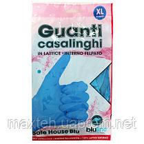 Перчатки латексные хозяйственные 2шт. Guanti casalinghi синие XL