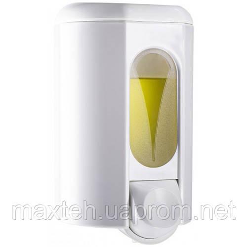 Дозатор жидкого мыла 1,1 л Аквалба белый с прозрачным окошком