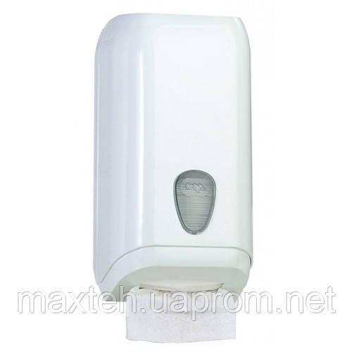 Диспенсер для листовой туалетной бумаги Престиж белый