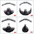 Реалистичная накладная борода🧔 и усы (чёрная щетина), фото 3