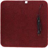 Термоковрик электрический Теплик 100х100 двухсторонний темно-красный, фото 3