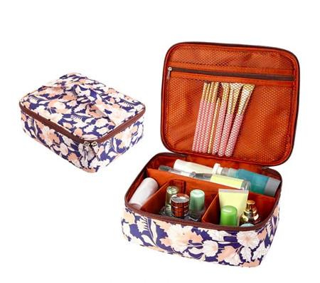 Дорожная сумка органайзер - косметичка для путешествий (цветочный орнамент)