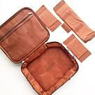 Дорожная сумка органайзер - косметичка для путешествий (цветочный орнамент), фото 2