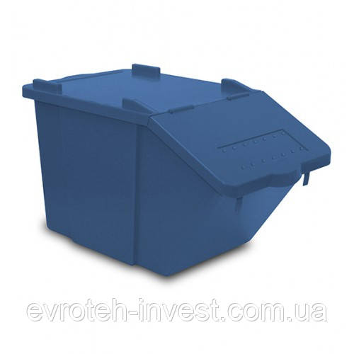 Контейнер с крышкой 45л SPLI синий