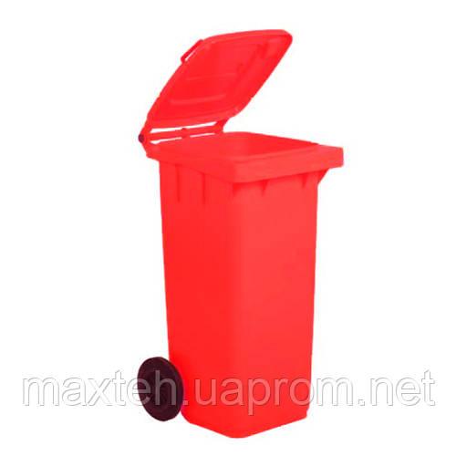 Контейнер для мусора 120л красный