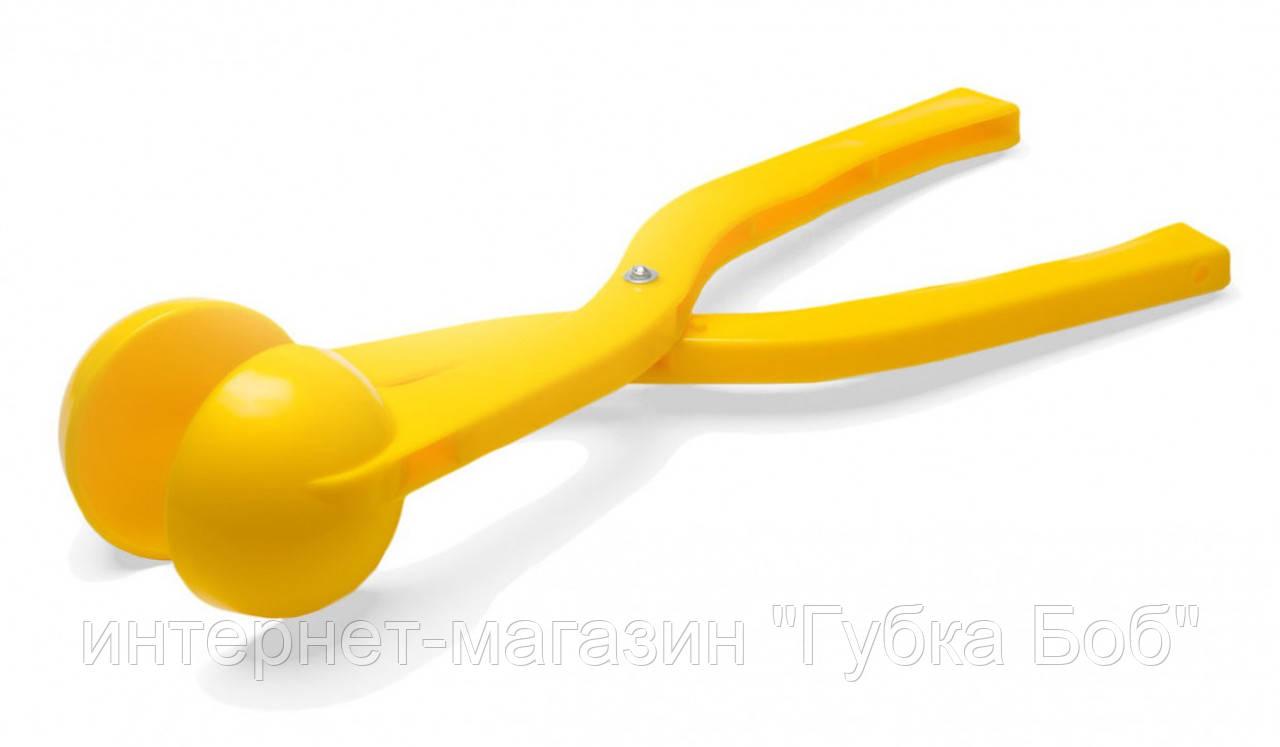 """Снежколеп """"Я люблю Украину"""", устройство для лепки снежков / желтый"""