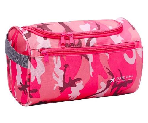 Дорожная сумка, органайзер для косметики - водостойкая, подвесная косметичка (розовая хаки)