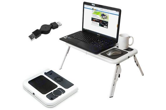 Столик-подставка для ноутбука E-Table с платформой для мышки и кулером Качество: Первый сорт