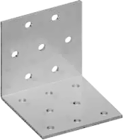 Угловая пластина равносторонняя перфорированная 40х40х80х1,8