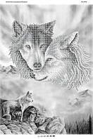 БС-2070 . Схема для вишивки бісером Вовки