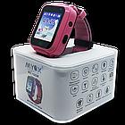 Детские водонепроницаемые GPS часы MYOX МХ-16GW розовые (камера+фонарик), фото 4
