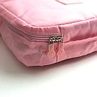Дорожная косметичка, органайзер для средств личной гигиены (персиковая в горошек), фото 3