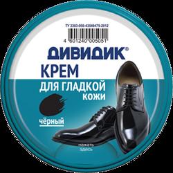Крем для обуви Классик в ж/б Дивидик 50мл (черный)