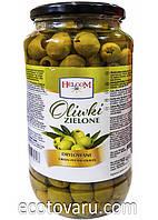 Оливки зеленые без косточек Helcom, 900г, фото 1