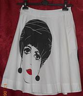 Хлопковая юбка -клеш