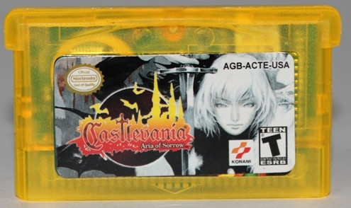 "Картридж на GBA ""Castlevania: Aria of Sorrow"""