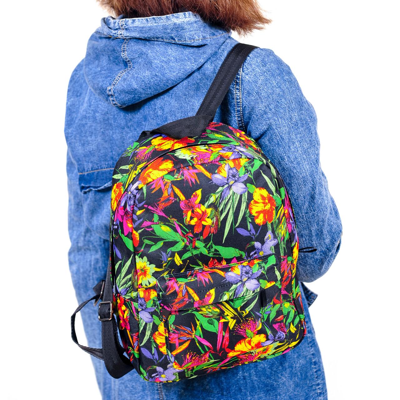 b00121fbc2a0 Молодежный Рюкзак с Цветочным Принтом, 7.5 Л — в Категории