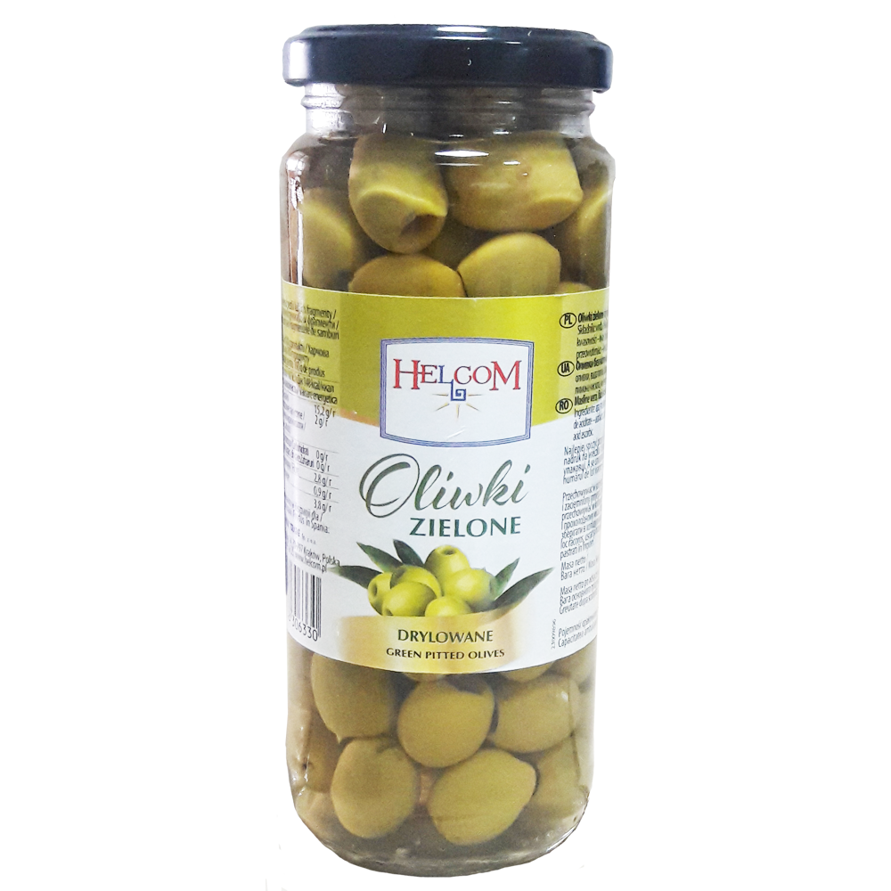 Оливки зеленые без косточек Helcom, 330г
